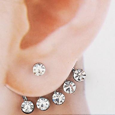 Kadın's Vidali Küpeler Ön ve Arka Stilli Küpeler Gelin Moda alaşım Mücevher Mücevher Gümüş Düğün Parti Yıldönümü Günlük Kostüm takısı