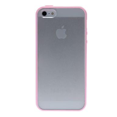 Pouzdro Uyumluluk iPhone 5 Şeffaf Arka Kapak Tek Renk Sert PC için iPhone SE/5s iPhone 5