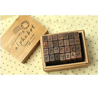 строчные буквы деревянные марки комплект (28 шт)