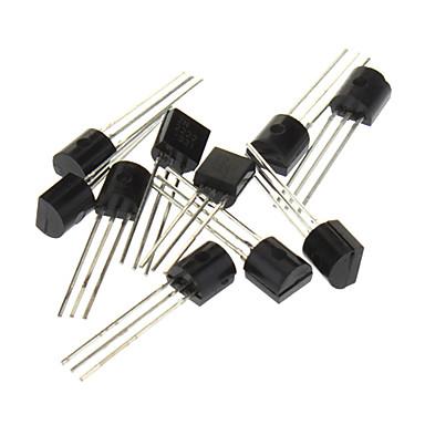 3-контактный триод транзисторов, черный (20 х 10-штук комплект)