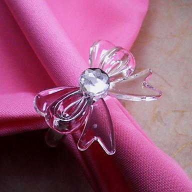 Bow-düğüm Peçete halkası, Akrilik