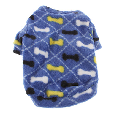 Dog Sweatshirt Dog Clothes Cute Casual/Daily Bone Blue Costume For Pets