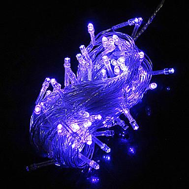 10m 6w 100 ledli mavi ışık led güneş şerit ışık süslemeleri için (110-120v / 220-240v)