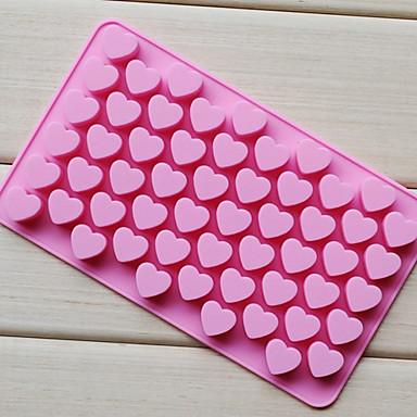 55 de găuri non-stick tort de ciocolată silicon dragoste pe formă de mucegai mucegai de copt coacere gel jeu mucegai inima