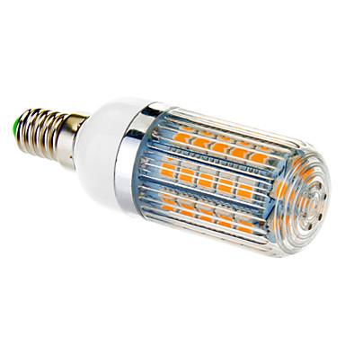 650 lm E14 LED Mısır Işıklar T 47 led SMD 5050 Sıcak Beyaz AC 100-240V