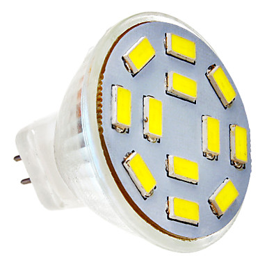 SENCART 1 buc 5 W Spoturi LED 300-320 lm G4 MR11 12 LED-uri de margele SMD 5730 Alb Rece 12 V