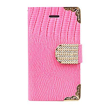 étui en cuir dentelle d'or joyland zircon crocodile de bande pour l'iphone 5 (de couleur assortie)