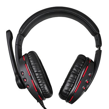Somic EV-55 Stereo 3,5 millimetri Giochi / Musica Headset Over-Ear con microfono e telecomando per PC
