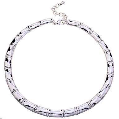 Feminino Colares em Corrente Aço Inoxidável bijuterias Jóias Para Festa Diário Casual