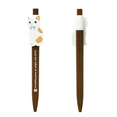 Cat Стиль ПВХ Шариковая ручка (Random Style)
