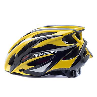 MOON Bisiklet kaskı 25 Delikler Bisiklet Half Shell Dağ PC EPS Yol Bisikletçiliği Bisiklete biniciliği / Bisiklet Dağ Bisikleti