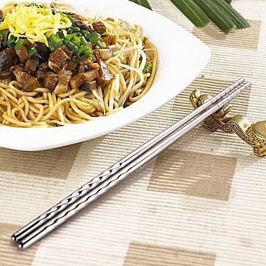Konu ile iki adet Paslanmaz Çelik Chopsticks