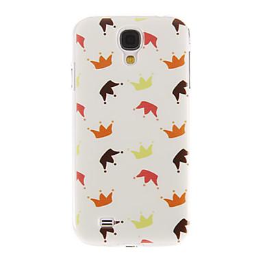 Samsung Galaxy S4 I9500 için Palyaçolar Desen Plastik Koruyucu Hard Case Arka Kapak
