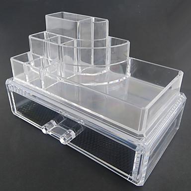 Kozmetik Kutusu Makyaj Depolama Solid Dört Köşeli Arkilik Plastik
