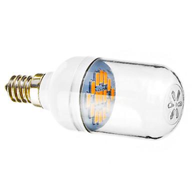 E12 Lâmpadas de Foco de LED 15 SMD 5730 120-140 lm Branco Quente 2800-3200 K AC 220-240 V