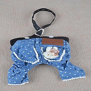 Köpek Pantolonlar Köpek Giyimi Kotlar Mavi Kostüm Evcil hayvanlar için
