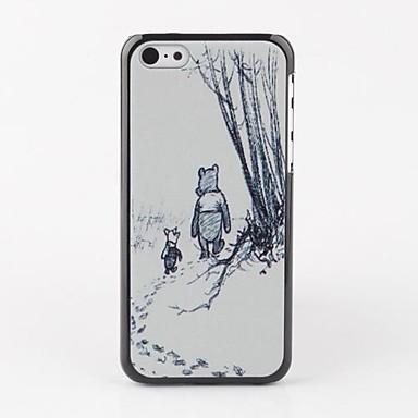 Pouzdro Uyumluluk Apple iPhone 5 Kılıf Tüm Gövdeyi Kapsayan Kılıf Solid Sert PU Deri için Apple
