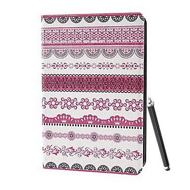 Standı ve iPad 2/3/4 için Stylus Dokunmatik Kalem ile klasik kabile kabile Kumaş Desen PU Full Body Kılıf