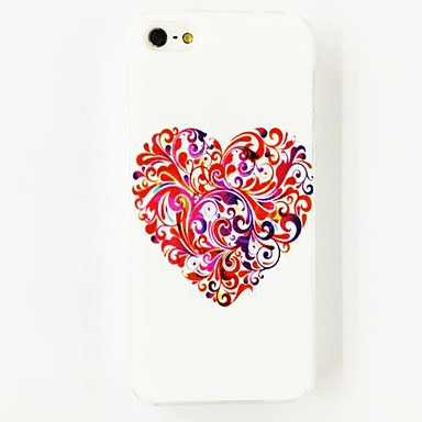 IPhone 4/4S için renkli Aşk Çiçek Desen Polikarbonat Hard Case