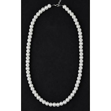 levne Módní náhrdelníky-Dámské Perla Strands Náhrdelník İnci Kolyeler dámy Perly Napodobenina perel Křišťálový Náhrdelníky Šperky Pro Svatební Párty Denní Ležérní