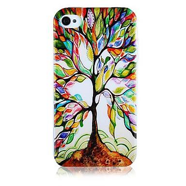 IPhone4/4S Restorasyon Desenli Silikon Soft Case Ağacı