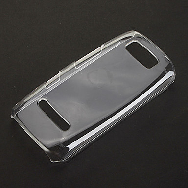Nokia Asha 305 için saf Desen Şeffaf Plastik Hard Case Arka Kapak