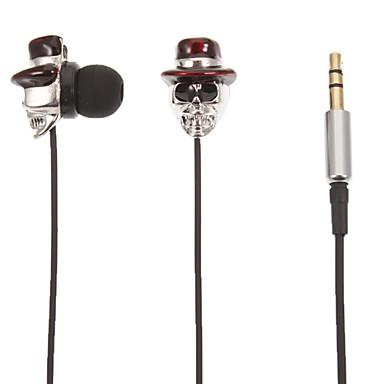 Kafatası-Şekilli Stereo Kulak Kulaklık (Red Hat)