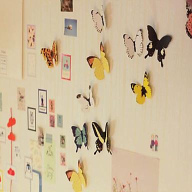 3d diy duvar atickers canlı kelebek buzdolabı mıknatıs ev daire dekorasyon