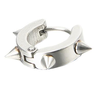 Küpe Vidali Küpeler Mücevher Erkek Parti / Günlük Titanyum Çelik Gümüş