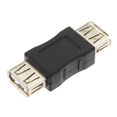 USB Dönüştürücü, USB2.0 A Dişi Adaptör Converter (Siyah) A Bayan USB2.0