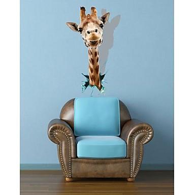 Dekoratif Duvar Çıkartmaları - 3D Duvar Çıkartması Hayvanlar / 3D Oturma Odası / Yatakodası / Çalışma Odası / Ofis / Yıkanabilir