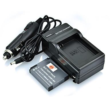 prise DSTE plein codé 3.7V 1300mAh Li-ion et nous le chargeur et chargeur de voiture pour caméra GoPro hero3