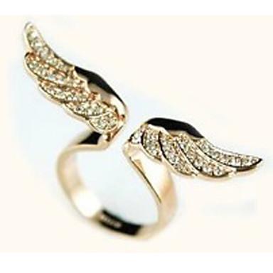 Bildiri Yüzüğü - Zirkon, Simüle Elmas, alaşım Lüks, Avrupa, Ayarlanabilir Ayarlanabilir Altın Uyumluluk Günlük
