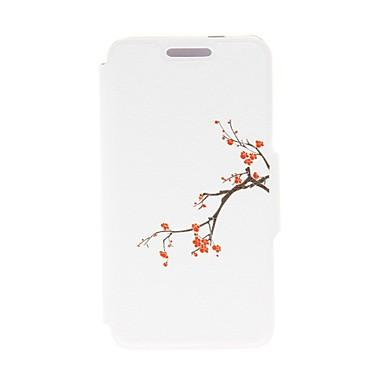 Pentru Carcasă LG Titluar Card / Cu Stand / Întoarce Maska Corp Plin Maska Floare Greu PU piele LG LG G25
