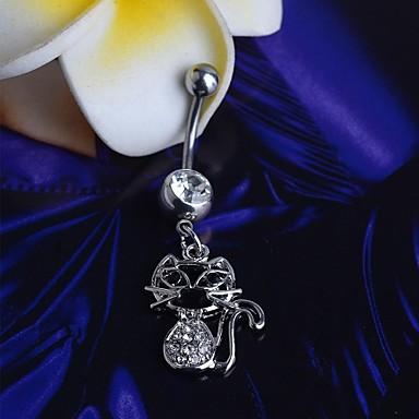 Paslanmaz Çelik Göbek Halkası / Göbek Piercing - Kadın's Vücut Mücevheri Uyumluluk Günlük
