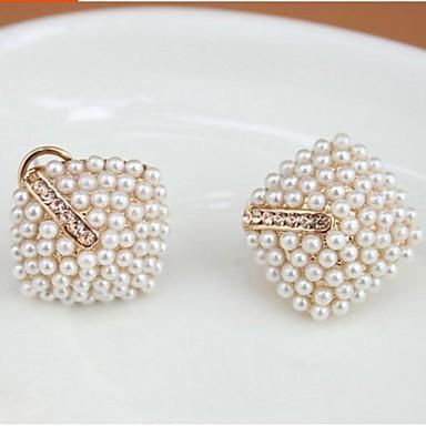 Kadın Vidali Küpeler İmitasyon İnci alaşım Mücevher Uyumluluk Düğün Parti Günlük