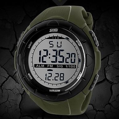 SKMEI رجالي ساعة رياضية ساعة المعصم ساعة رقمية رقمي مطاط أسود / أزرق / رمادي 30 m مقاوم للماء المنبه رزنامه رقمي موضة - أسود رمادي أخضر سنتان عمر البطارية / الكرونوغراف / LCD / Maxell626 + 2025