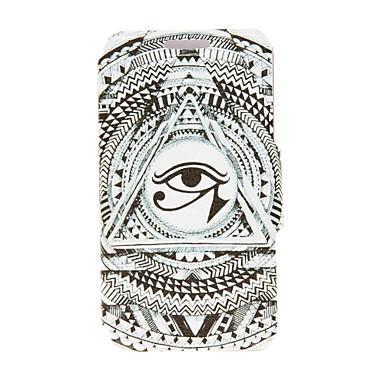 KINSTON το μάτι του Θεού Ήλιου μοτίβο PU δερμάτινη θήκη πλήρη σώμα με Βάση για iPhone 4 / 4s