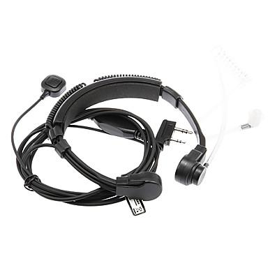 3.5mm + 2.5mm Walkie Talkie Esnek Boğaz kontrollü Kulaklık - Siyah