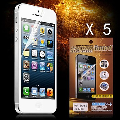 Protective HD Screen Protector for iPhone 5/5S(5PCS)