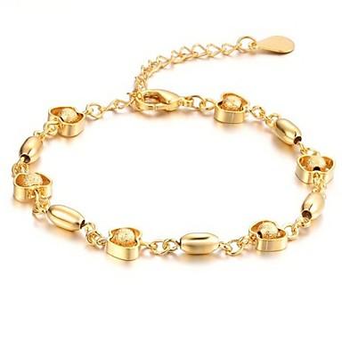 Красивая 18 К Золотые украшения свадьба невеста Любовь Apple, Grind песчаные браслет из бисера
