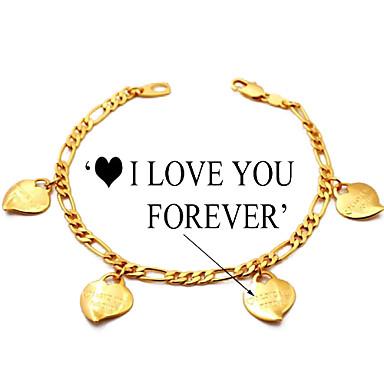 Kadın Tılsım Bileklikler kostüm takısı Altın Kaplama Aşk Mücevher Uyumluluk Günlük