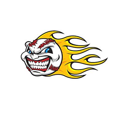 Ateş Topu Desen Dekoratif Araç plakası