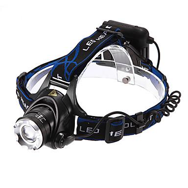 Kafa Lambaları LED 1200 lm 3 Işıtma Modu Ayarlanabilir Fokus / Şarj Edilebilir / Su Geçirmez Çok Fonksiyonlu