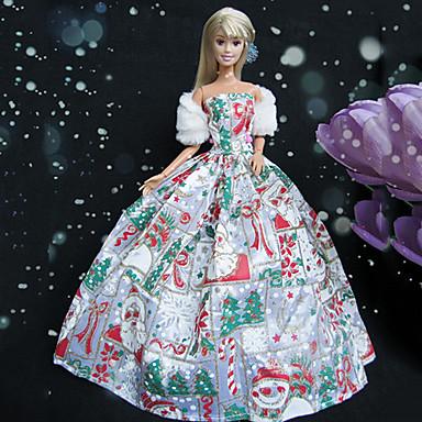 2a8e26b05bd6 Fest   Aften Kjoler Til Barbiedoll polyester Kjole Til Pigens Dukke Legetøj