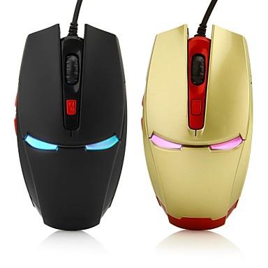 olcso Videojáték tartozékok-LITBest NHG05 Vezetékes USB Optikai Gaming Mouse LED fény 800/1200/1600/2000 dpi 4 állítható DPI szint 6 pcs Kulcsok