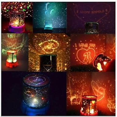 Fshion Starry Sky colorat de proiecție Rotirea Music Player de lumini LED-uri (Random Color)