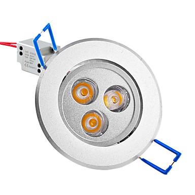 250 lm Tavan Işıkları Gömme Işıklar Gömme Uyumlu 3 led Yüksek Güçlü LED Sıcak Beyaz AC 85-265V