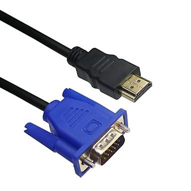 lwm ™ bărbat HDMI premium la VGA de sex masculin 10ft 3m cablu pentru transmisie video de înaltă calitate