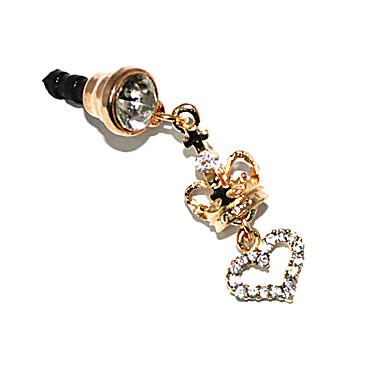 Crown 3,5 MM Zircon Anti-Staub-Kopfhöreranschluss für iPhone und iPad